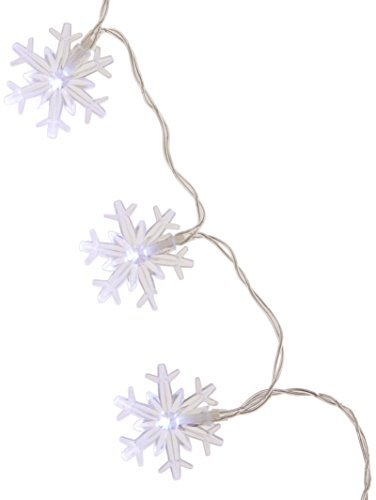 Benzara Snowflake String Lights with 20 White LED Lights for $<!--$11.49-->