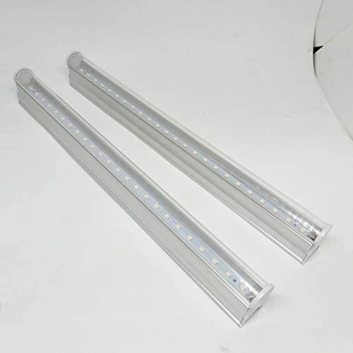 Tivollyff 2個のLEDライトライトT5チューブLEDフィトランプフルスペクトルLEDは、植物0.3m用ライト屋内ランプを成長させます