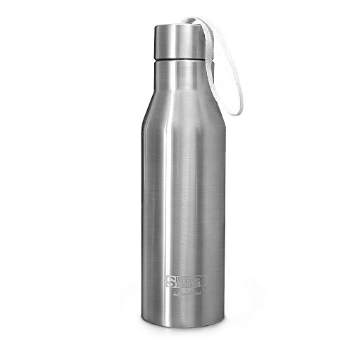 Stainless Steel Water Bottle, Landnics (25 ounce) Vacuum Double Wall Insulated Bottle 12 Hrs Hot, 24 Hrs Cold Travel Mug Sports Water Bottles for Running, Camping, Hiking, Cycling, Gym by Landnics