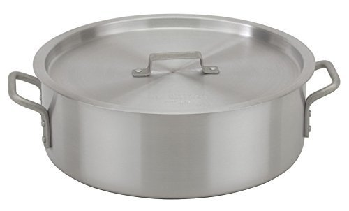 Royal Industries Brazier with Lid, Aluminum, 12 quart, Silver Royal Industries Inc ROY BRAZ SW 12