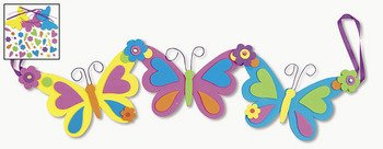 Amazon Com Self Adhesive Spring Butterfly Garland Craft Kit