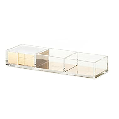 Kate Spade New York Acrylic Loose Note Holder, Gold (166830)