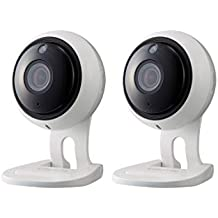 Samsung Wisenet SNH-V6431BN SmartCam 1080p Full HD Wi-Fi Indoor IP Camera Two Pack (Renewed)