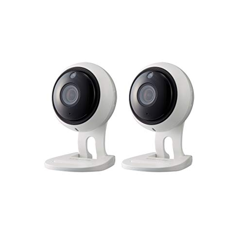 Samsung Wisenet SNH-V6431BN SmartCam 1080p Full HD Wi-Fi Indoor IP Camera Two Pack (Certified Refurbished)