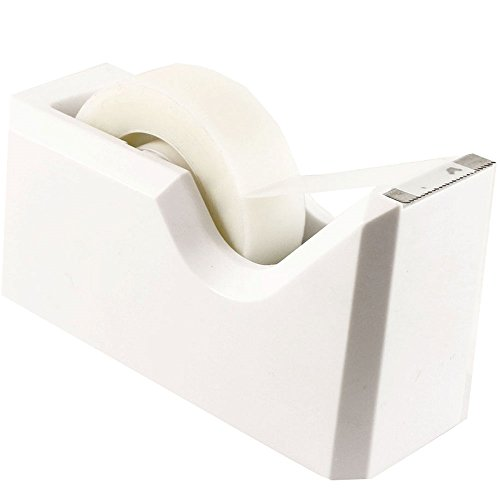 JAM Paper Colorful Tape Dispensers - 4 1/2'' x 2 1/2'' x 1 3/4'' - White - Sold Individually by JAM Paper
