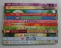 HEM Incense Best Sellers #4 Set: 12 Boxes X 8 Sticks, Total 96 Sticks