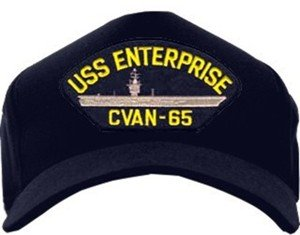 a3e35fc215e Amazon.com  MilitaryBest USS Enterprise CVAN-65 Ballcap with Custom ...