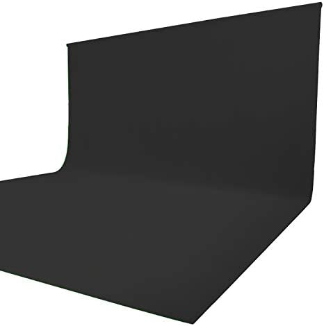 Issuntex 10X20 feet Black Background Muslin Backdrop,Photo Studio,Collapsible High Density Screen for Video Photography and Television