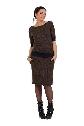 3Elfen Vestito pipistrello de prendisole donna - prodotta a Berlino Castagno