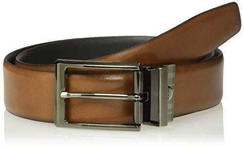 Boconi Men's Harrison Leather Reversible Belt, Brown/Black, 34