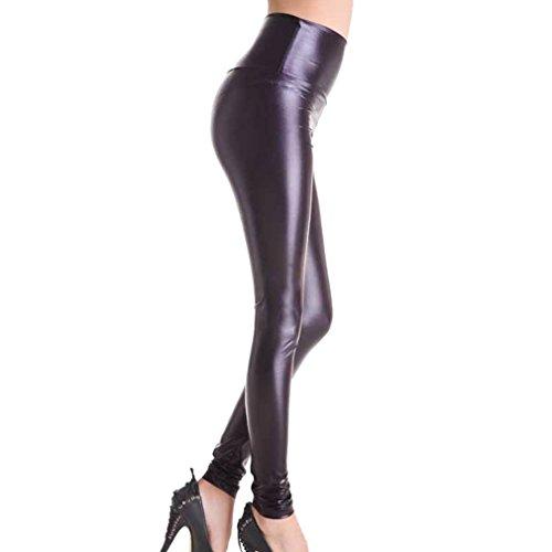 Sguardo Nero Signore Ecopelle Pantaloni Donne Bagnate Vita Alta Hibote Ghette Vita Normali Alta Chiaro Bassa Vita q10nAR