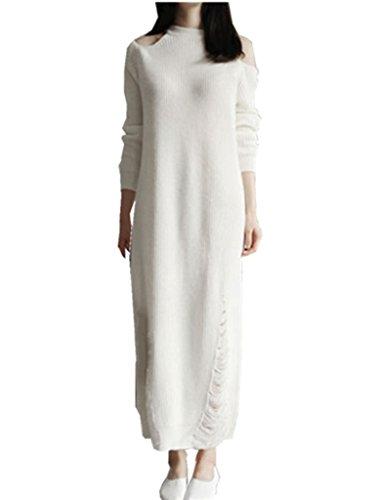 Persun Beige Side Split Dress