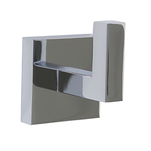 Gedy A026-13 Elba Modern Square Wall Mounted Bathroom Hook, Chrome