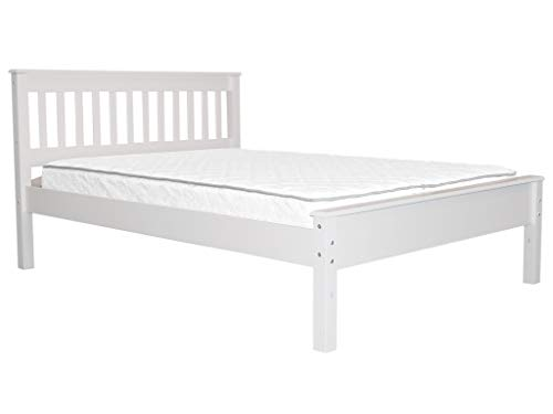 Bedz King Mission Style Full Bed, White