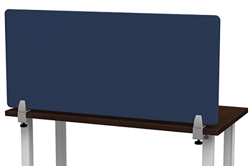 Merge Works Clamp on 48 x 22 Acoustical Desktop Privacy Panel in Blue, Tackable by Merge Works