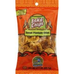 Inka Crops - Sweet Plantain Chips (12-3.25 oz bags) - Naturally Sweet Chip