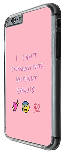 1194 - I Can't Communicate Without Emokis Smiley Face Design For iphone 5C Fashion Trend CASE Back COVER Plastic&Thin Metal -Clear