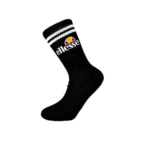 Ellesse Tennis Apparel - Ellesse Pullo Socks 3xPack, Color:black, Size:41-46