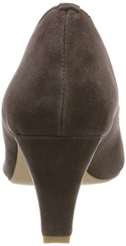 Dunkeltaupe 164 marrón punta 3000507 cerrada tacones Hirschkogel Women's con ORpxSSZ