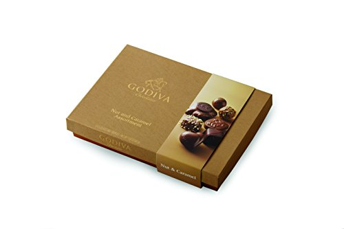 Godiva Chocolate Nuts (Godiva Chocolatier 19 Piece Chocolate Nut and Caramel Valentines Day Gift Box, 10.6 Ounce)