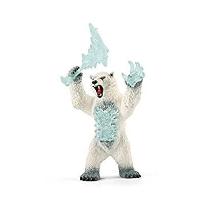 SCHLEICH Eldrador Blizzard Bear with Weapon Imaginative Figurine for Kids Ages 7-12: Toys & Games