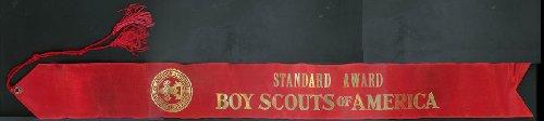 - Boy Scouts of America Standard Award Log Throw ribbon 1967