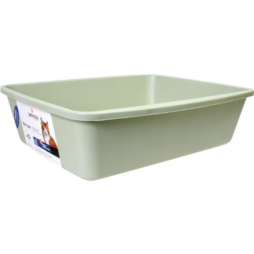 (Petmate Litter Pan with Microban - Assorted Colors - Large)