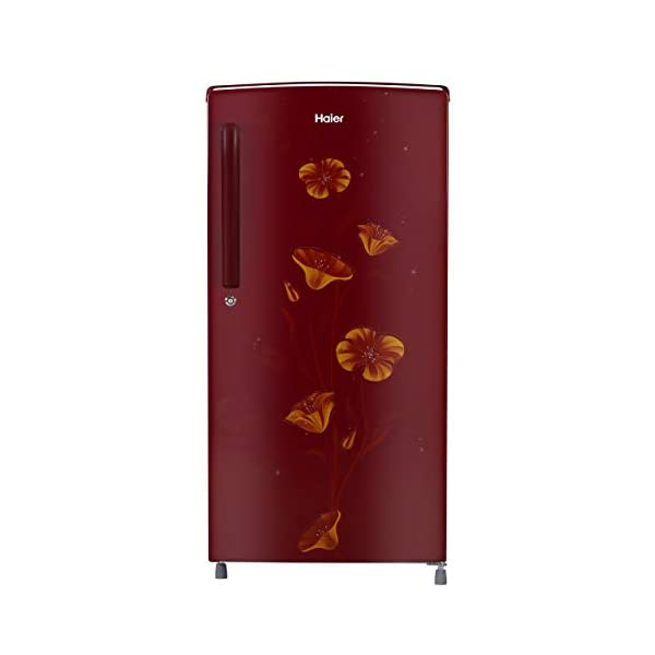 Haier 182 L 2Star Direct-Cool Single Door Refrigerator (HED-18TRF, Red Freesia) 2021 August Direct-cool Single Door refrigerator with Diamond Edge Freezing Technology-ensures better ice formation and super-fast cooling Capacity: 182 litres suitable for a small family Energy rating: 2 star, Annual energy consumption: 208 Kilowatt Hours (Please refer energy label on product page or contact brand for more details)