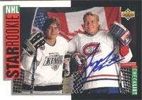 6370124ed Turner Stevenson Montreal Canadiens 1993 Upper Deck Star Rookie Checklist  Autographed Card - Rookie Card.
