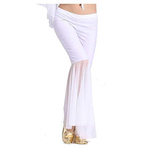 Belly Dance Pant Gauze Pants Dancing Tribal Belly Dance Costume white ()