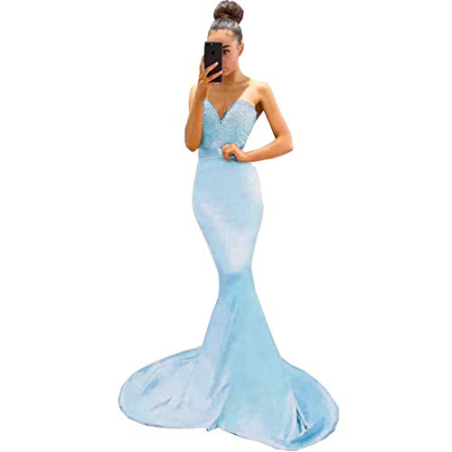 Chady 2019 Pink Mermaid Bridesmaid Dresses Sweetheart Strapless Sweep Train Lace Prom Dresses Evening Gowns