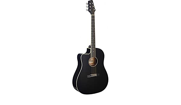 Stagg SA35 dsce-bk LH – Guitarra electroacústica zurdos negra ...