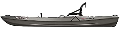 52535 Sun Dolphin Boss SS Sit-On/Stand On Top Angler Kayak (Gray, 12.3-Feet) from KL Industries