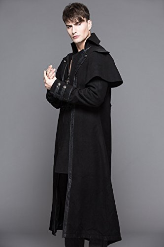 Devil Devil Cappotto Fashion Uomo Nero Fashion wq68O