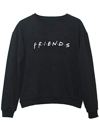 YITAN Friends Women Sweaters Teen Girl Pullover Black Small