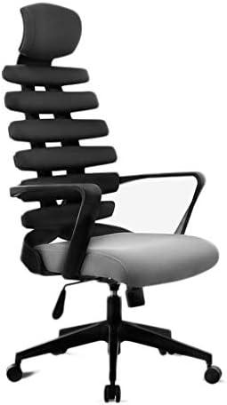 CHHDオフィスチェア、オフィスチェアデスクチェア回転チェアゲームチェアコンピュータチェアホームエルゴノミック看護ウエストボーンバック(カラー:ブルー)
