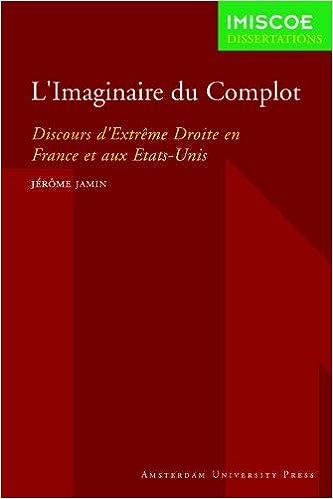"""Résultat de recherche d'images pour """"L'imaginaire du complot Discours d'extrême droite en France et aux Etats-Unis - Jérôme Jamin"""""""