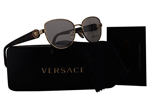 1052 Glasses - Versace VE1246B Eyeglasses 54-17-135 Copper w/Transparent Brown Temples w/Demo Clear Lens 1052 VE 1246-B