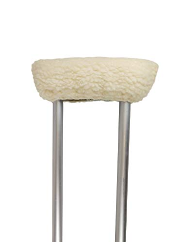 (Blue Jay Soft n' Plush Comfort Crutch Cover Set - Comfortable, Natural Warmth, Washable, Stays Securely in Place with A Hook and Loop, Synthetic Sheepskin, Crutch Accessory)