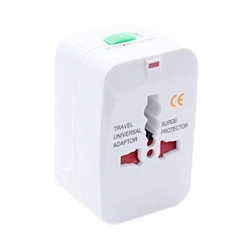 Yugg EnteRP Accessoriesrises All in One Universal International Travel AC Power Squar r with AU US UK EU Converter Plug wide Adaptor  White