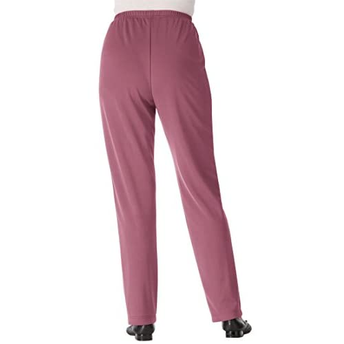 57f9784563f94 Only Necessities Women s Plus Size Pants In Wrinkle   Stain-Resistant Knit  60%OFF