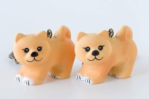 Amazon.com: Risa Larson mini-animal llavero (Shiba perro ...