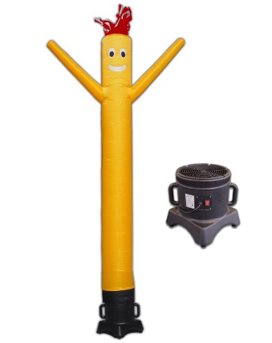 LookOurWay 10ft Air Dancers Inflatable Tube Man Complete Set with 1/2 HP Sky Dancer Blower, 10-Feet, Yellow by LookOurWay