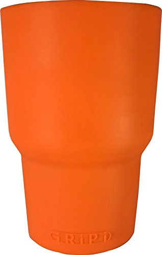 GRiPi Sleeve for YETI Cooler Tumbler (Sunset Orange) Silicone Grip for 20 oz. or 30 oz. Drinks | Colorful, Personalized Insulated Cup Cover