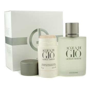Giorgio Armani Acqua Di Gio Coffret: Eau De Toilette Spray 100ml/3.4oz + Deodorant Stick 75g/2.6oz (Acqua Di Gio 100 Ml)