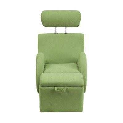 Hercules Series Kids Recliner Chair and Ottoman Color: Green