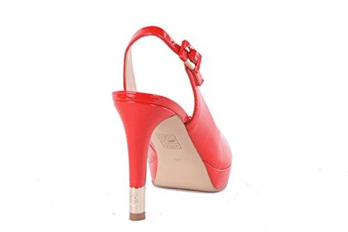 GUESS Women's Pumps Highheels Stilettos Riemchenpumps Plateau Red Red 1YOQMD4pdK