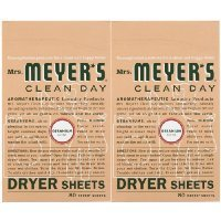 Softgel Sheets - Mrs. Meyer's Clean Day Dryer Sheets, Geranium, 80 ct-2 pack
