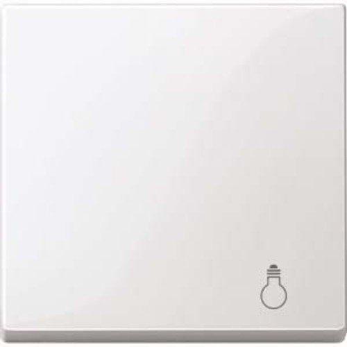 Merten Wippe with Labelling Light System M, Polar White Glossy, MEG33020319