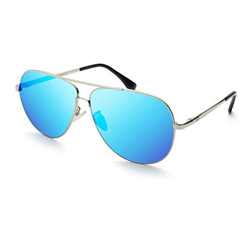Libre Gafas Moda Azul Aire 2 Espejo 2cm Espejo Sol Hombre la al Tendencias Conductor 14 5 Sol Hombres Gafas de WWF de Conducción polarizadas para de Iwx77TnqC